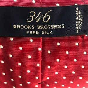 Brooks Brothers Accessories - 346 Brooks Brothers Pure Silk Red and White Tie